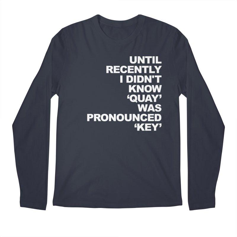 Quay or Key? Men's Regular Longsleeve T-Shirt by Kelsorian T-shirt Shop