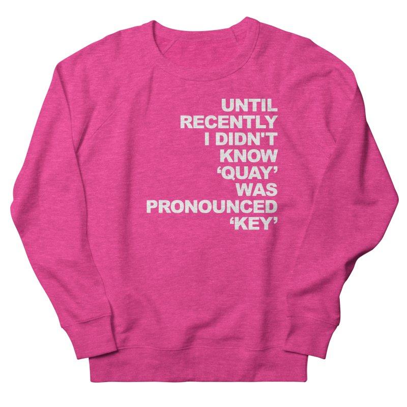 Quay or Key? Men's French Terry Sweatshirt by Kelsorian T-shirt Shop