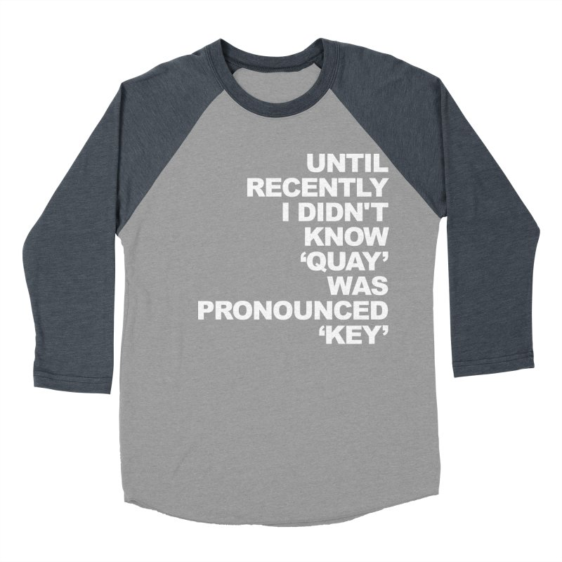 Quay or Key? Women's Baseball Triblend Longsleeve T-Shirt by Kelsorian T-shirt Shop