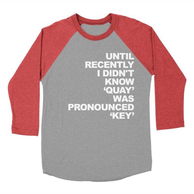 Quay or Key? Men's Baseball Triblend T-Shirt by Kelsorian T-shirt Shop