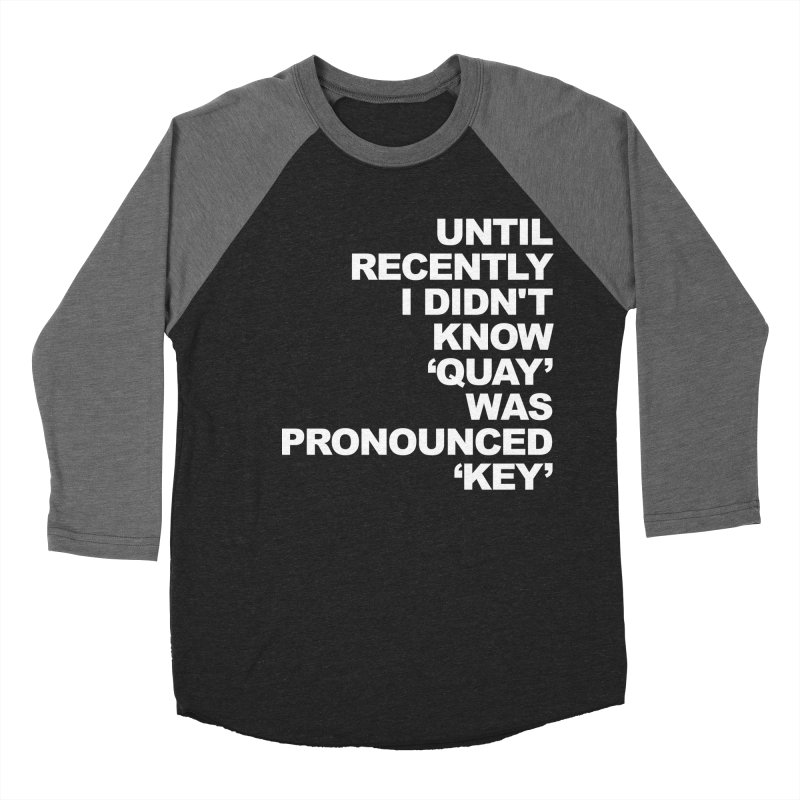 Quay or Key? Men's Baseball Triblend Longsleeve T-Shirt by Kelsorian T-shirt Shop