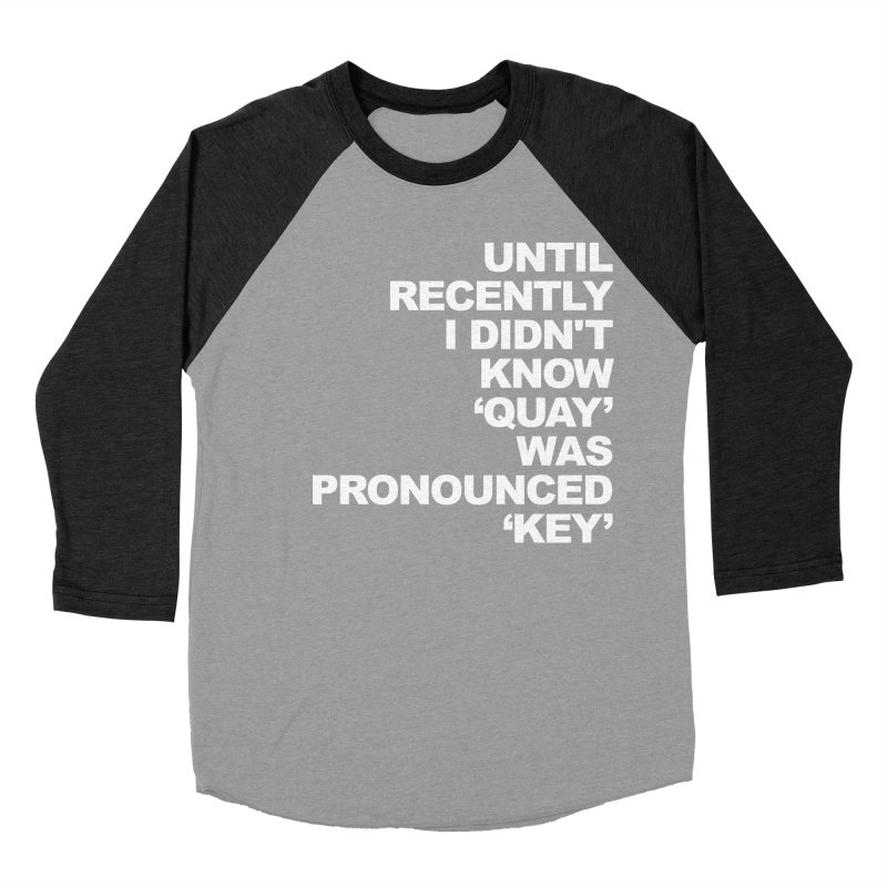 Quay or Key? Men's Baseball Triblend Longsleeve T-Shirt by Kelsorian T-shirt Shop