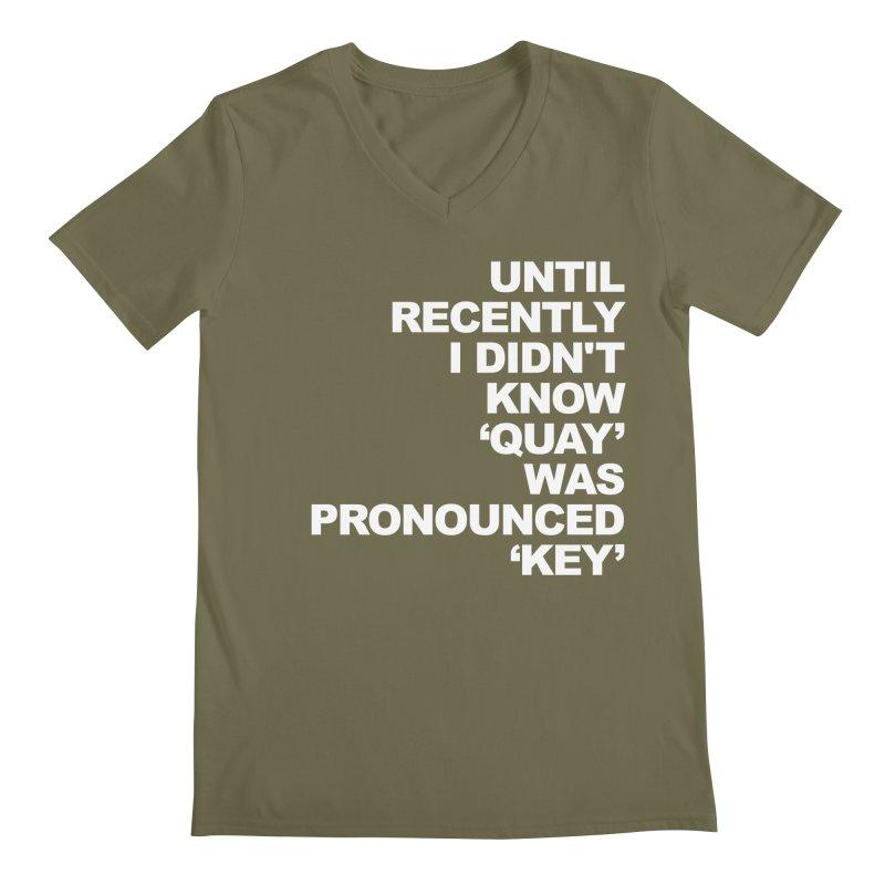 Quay or Key? Men's Regular V-Neck by Kelsorian T-shirt Shop