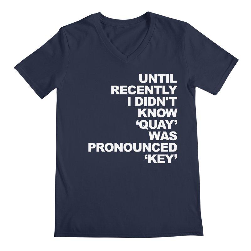 Quay or Key? Men's V-Neck by Kelsorian T-shirt Shop