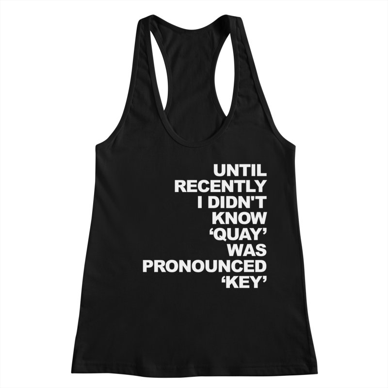 Quay or Key? Women's Racerback Tank by Kelsorian T-shirt Shop