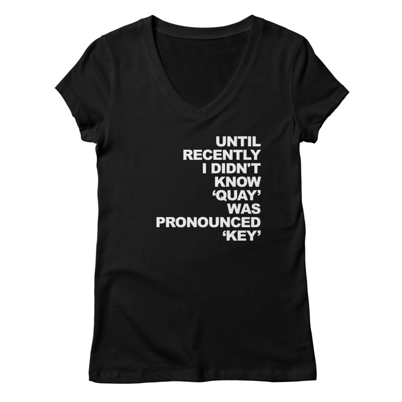 Quay or Key? Women's V-Neck by Kelsorian T-shirt Shop