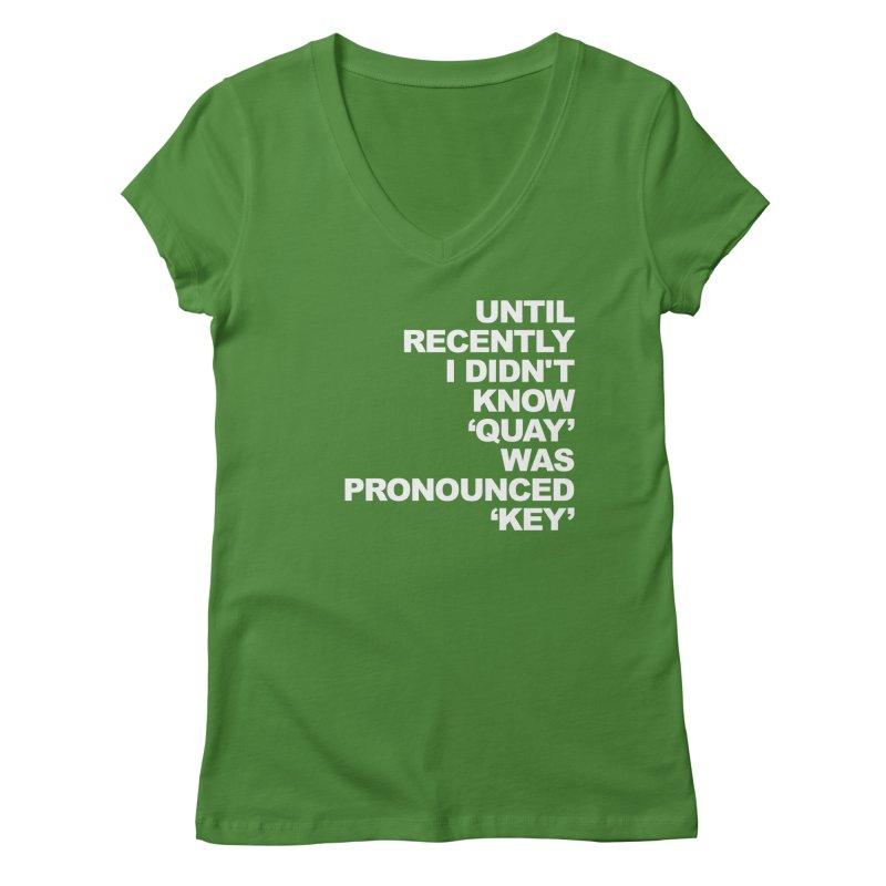 Quay or Key? Women's Regular V-Neck by Kelsorian T-shirt Shop
