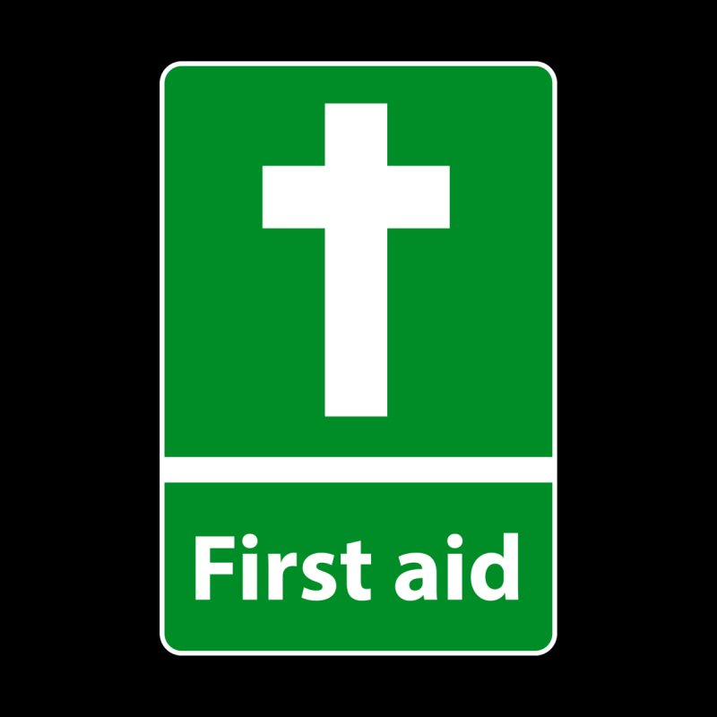 First Aid Cross Home Fine Art Print by Kelsorian T-shirt Shop