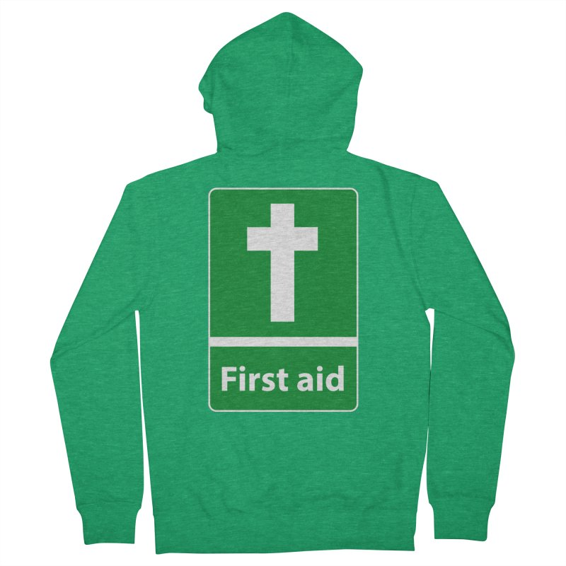 First Aid Cross Women's Zip-Up Hoody by Kelsorian T-shirt Shop