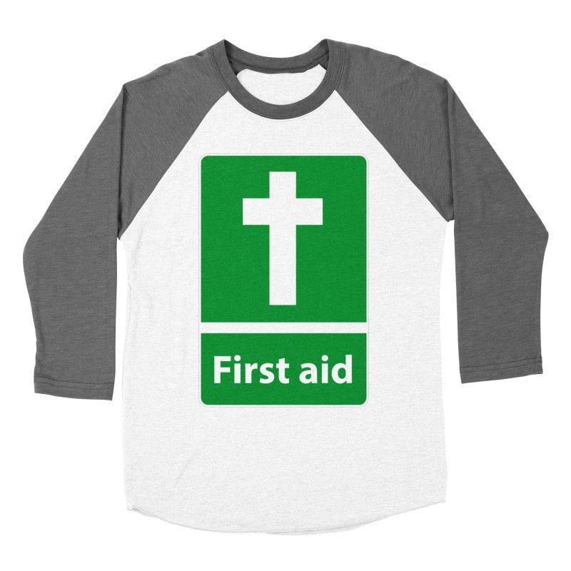 First Aid Cross Women's Longsleeve T-Shirt by Kelsorian T-shirt Shop