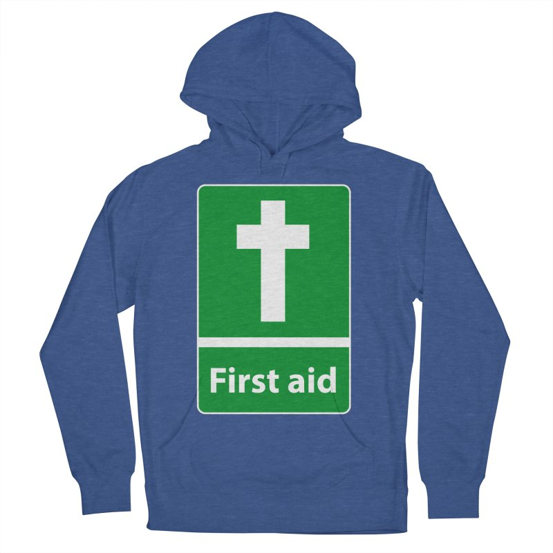 First Aid Cross Women's French Terry Pullover Hoody by Kelsorian T-shirt Shop