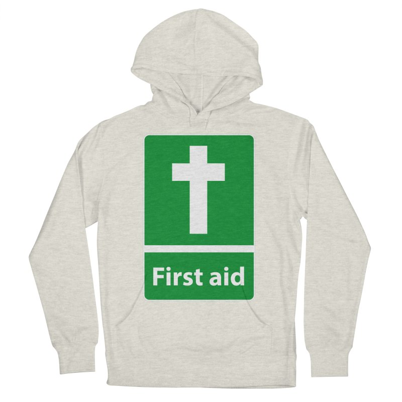First Aid Cross Men's French Terry Pullover Hoody by Kelsorian T-shirt Shop