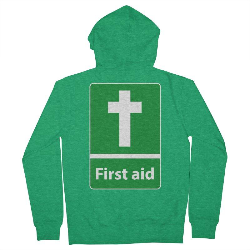 First Aid Cross Women's Zip-Up Hoody by Kelsorian T-shirt Shop