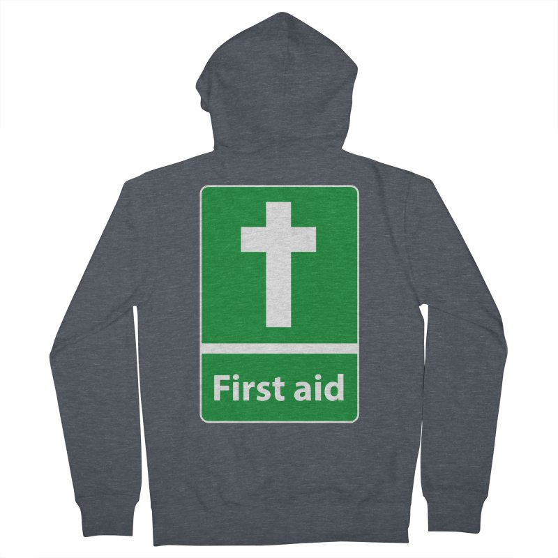 First Aid Cross Women's French Terry Zip-Up Hoody by Kelsorian T-shirt Shop
