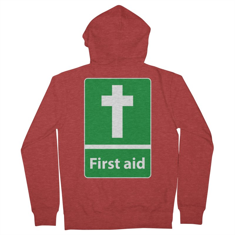 First Aid Cross Men's Zip-Up Hoody by Kelsorian T-shirt Shop