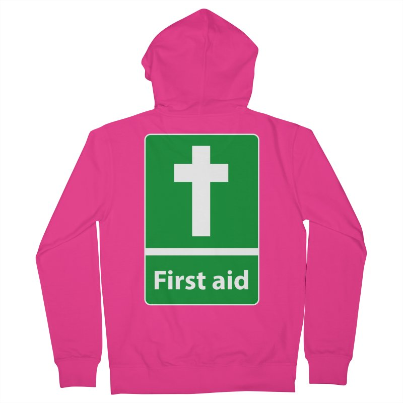 First Aid Cross Men's French Terry Zip-Up Hoody by Kelsorian T-shirt Shop