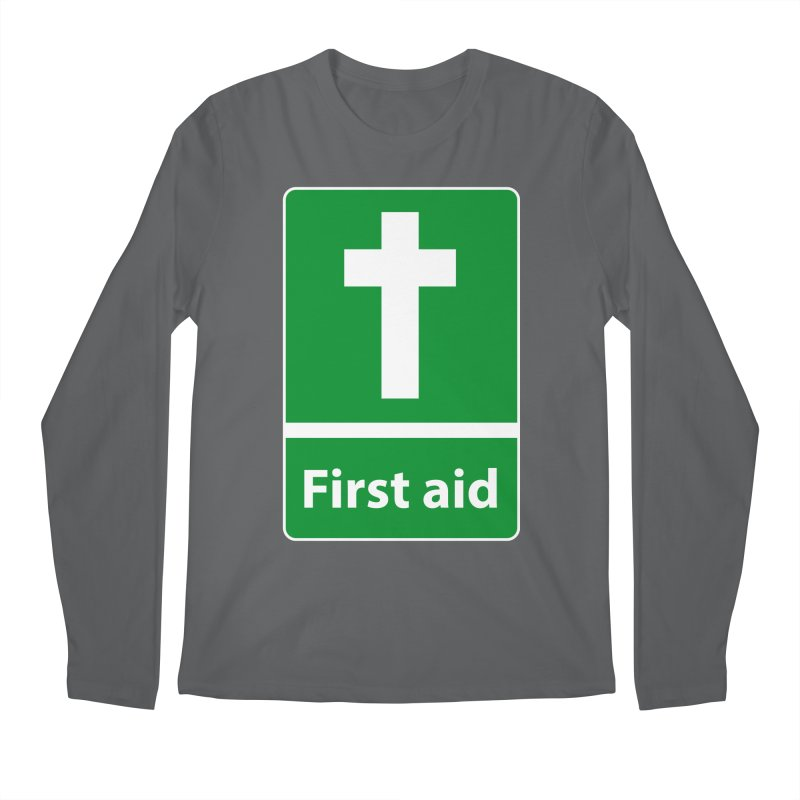 First Aid Cross Men's Longsleeve T-Shirt by Kelsorian T-shirt Shop