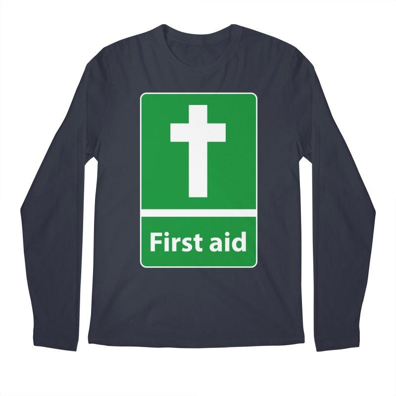 First Aid Cross Men's Regular Longsleeve T-Shirt by Kelsorian T-shirt Shop