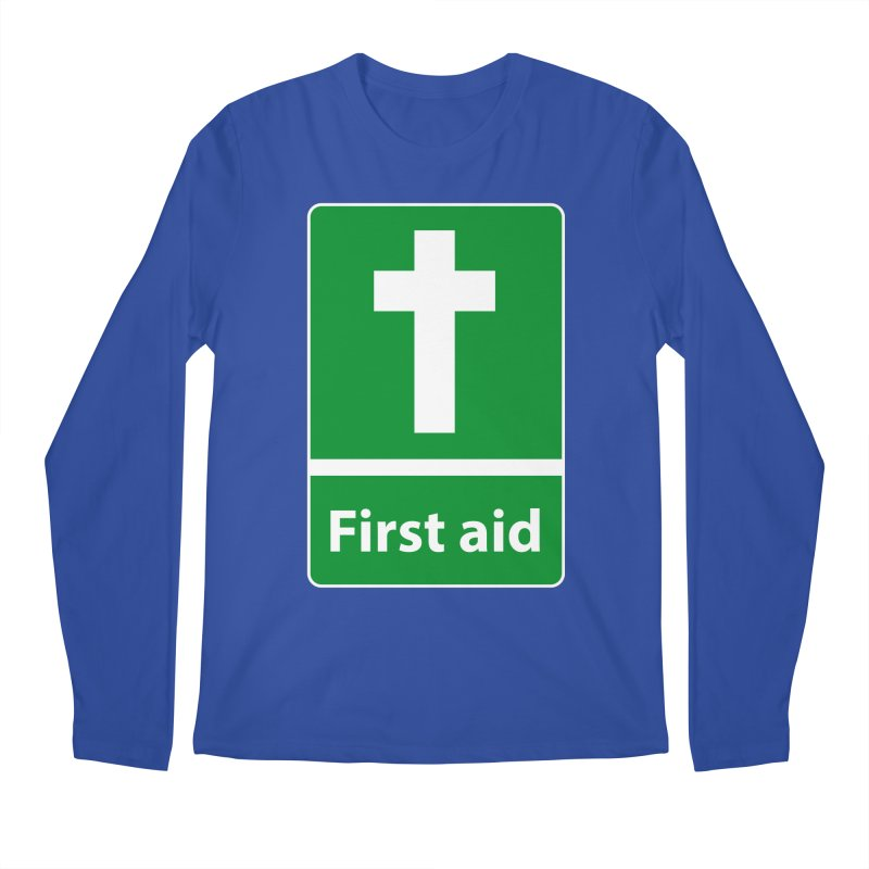 First Aid Cross Men's Regular Longsleeve T-Shirt by Kelsorian T-shirt Shop