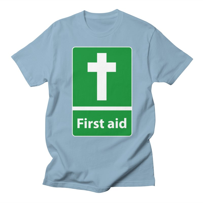 First Aid Cross Men's Regular T-Shirt by Kelsorian T-shirt Shop