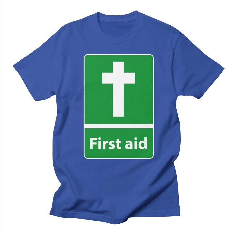 First Aid Cross Men's Regular T-Shirt by Kelsorian T-shirt Shop