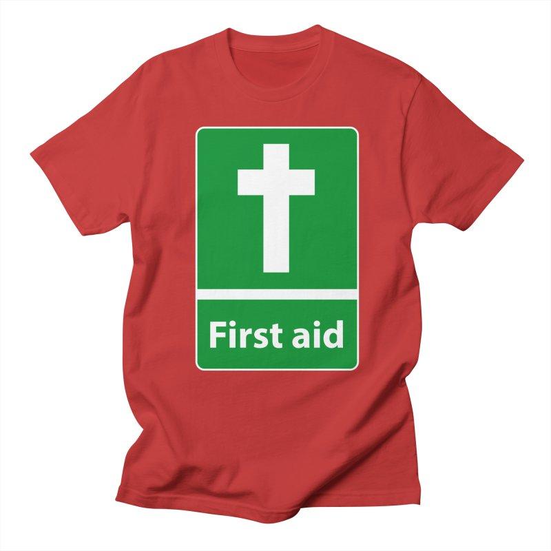 First Aid Cross Men's  by Kelsorian T-shirt Shop