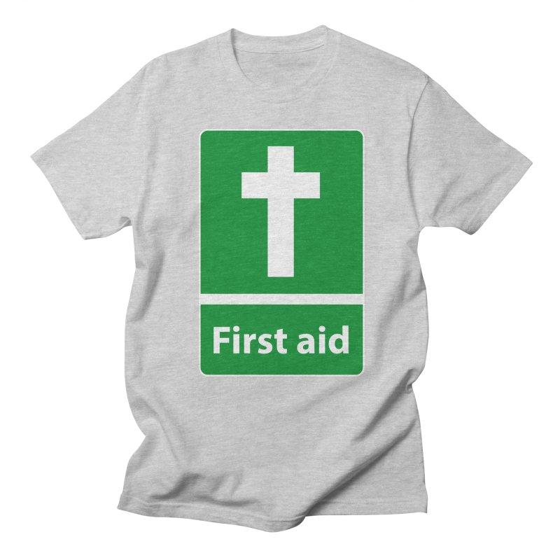 First Aid Cross Men's T-shirt by Kelsorian T-shirt Shop