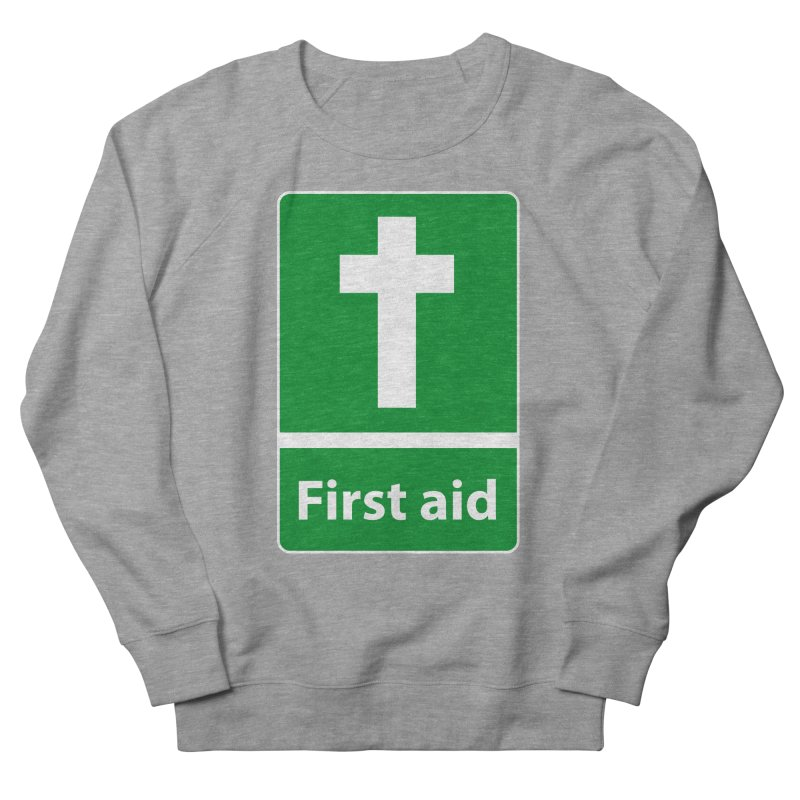 First Aid Cross Women's French Terry Sweatshirt by Kelsorian T-shirt Shop