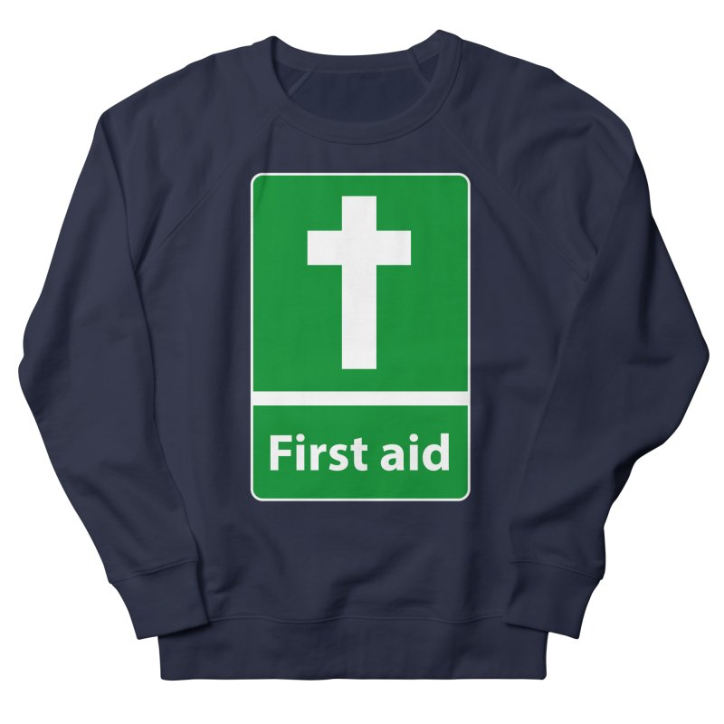 First Aid Cross Women's French Terry Sweatshirt by Kelsorian T-shirt Shop