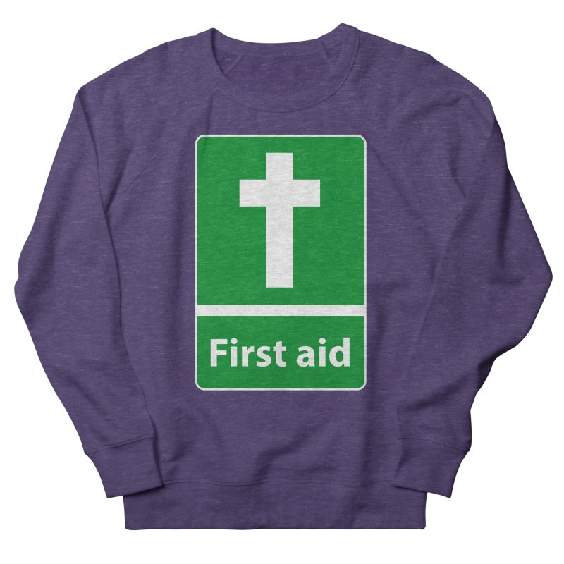 First Aid Cross Men's French Terry Sweatshirt by Kelsorian T-shirt Shop