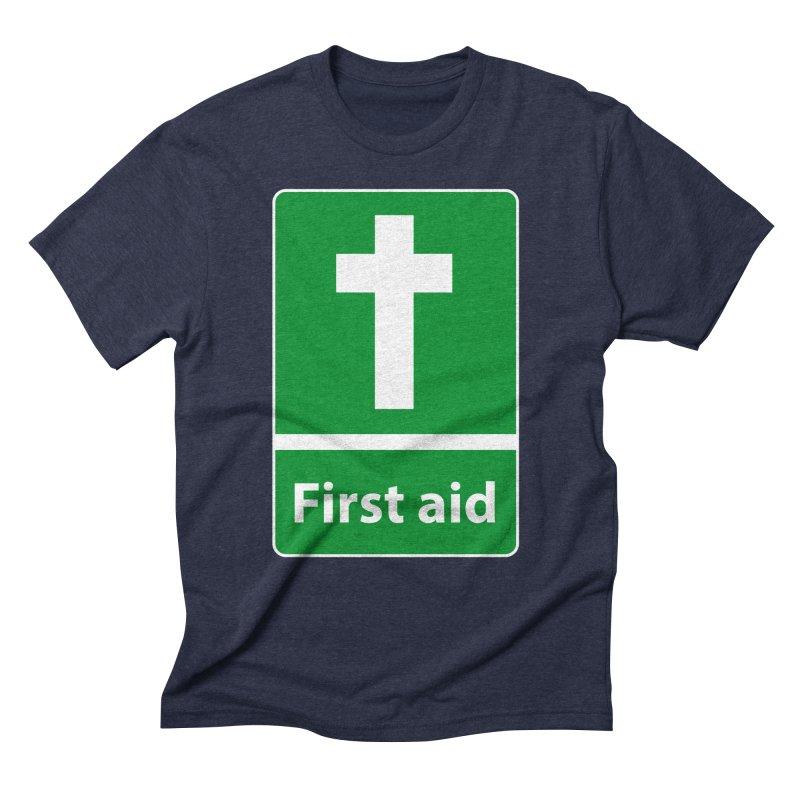 First Aid Cross Men's Triblend T-shirt by Kelsorian T-shirt Shop