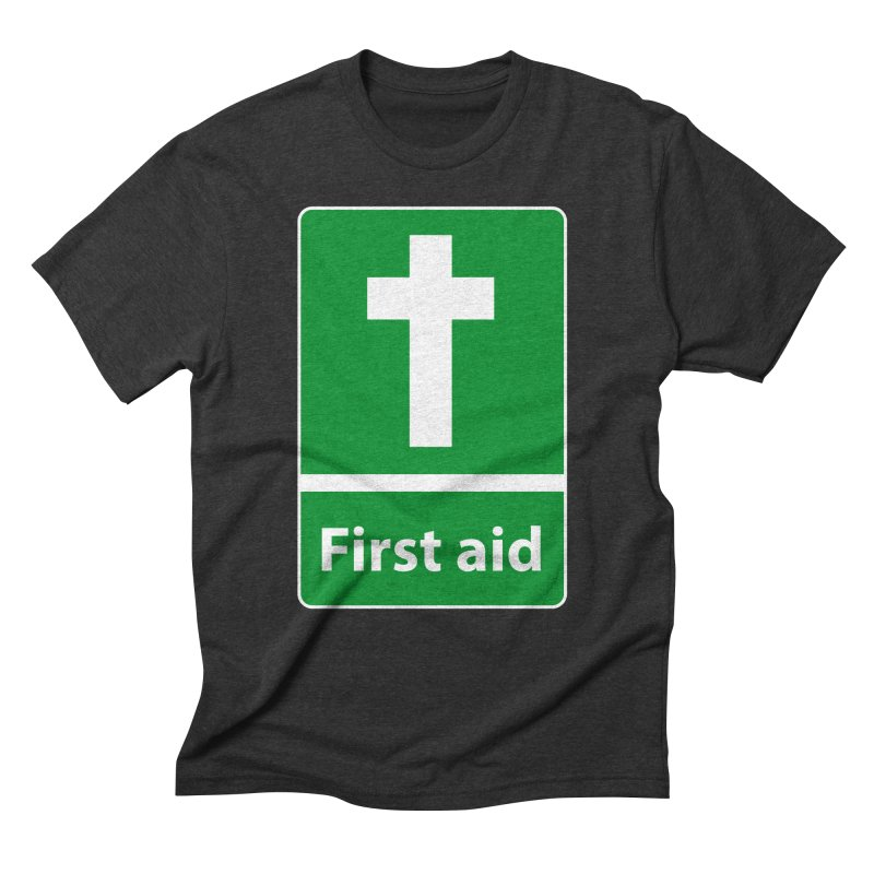 First Aid Cross Men's Triblend T-Shirt by Kelsorian T-shirt Shop