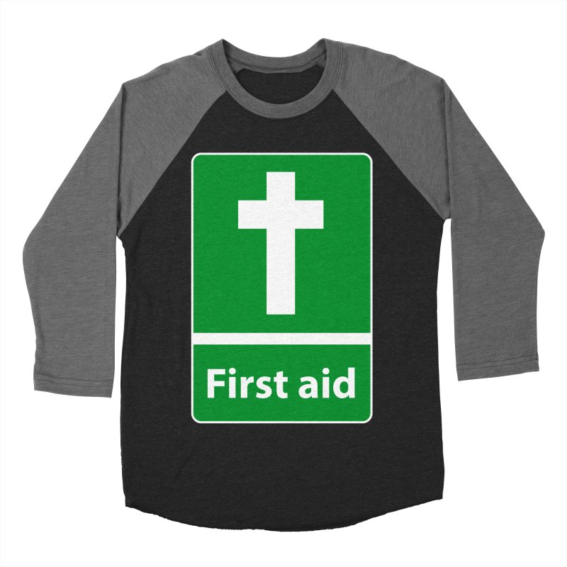 First Aid Cross Women's Baseball Triblend T-Shirt by Kelsorian T-shirt Shop
