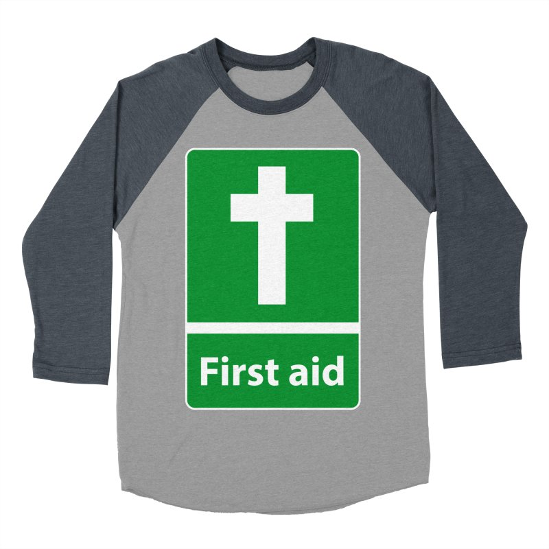 First Aid Cross Women's Baseball Triblend Longsleeve T-Shirt by Kelsorian T-shirt Shop
