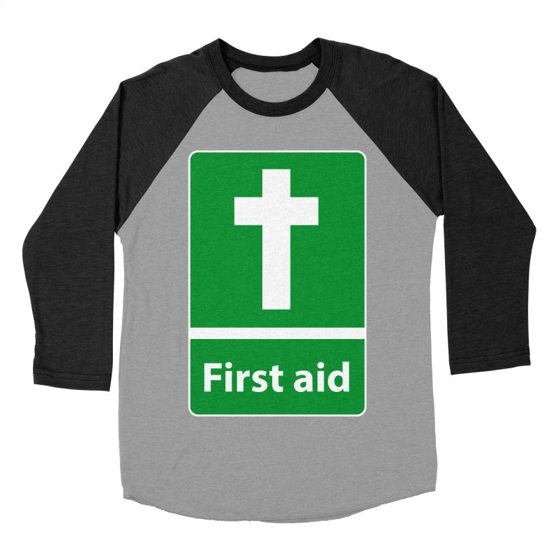 First Aid Cross Men's Baseball Triblend T-Shirt by Kelsorian T-shirt Shop