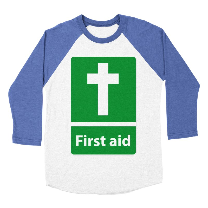 First Aid Cross Men's Baseball Triblend Longsleeve T-Shirt by Kelsorian T-shirt Shop