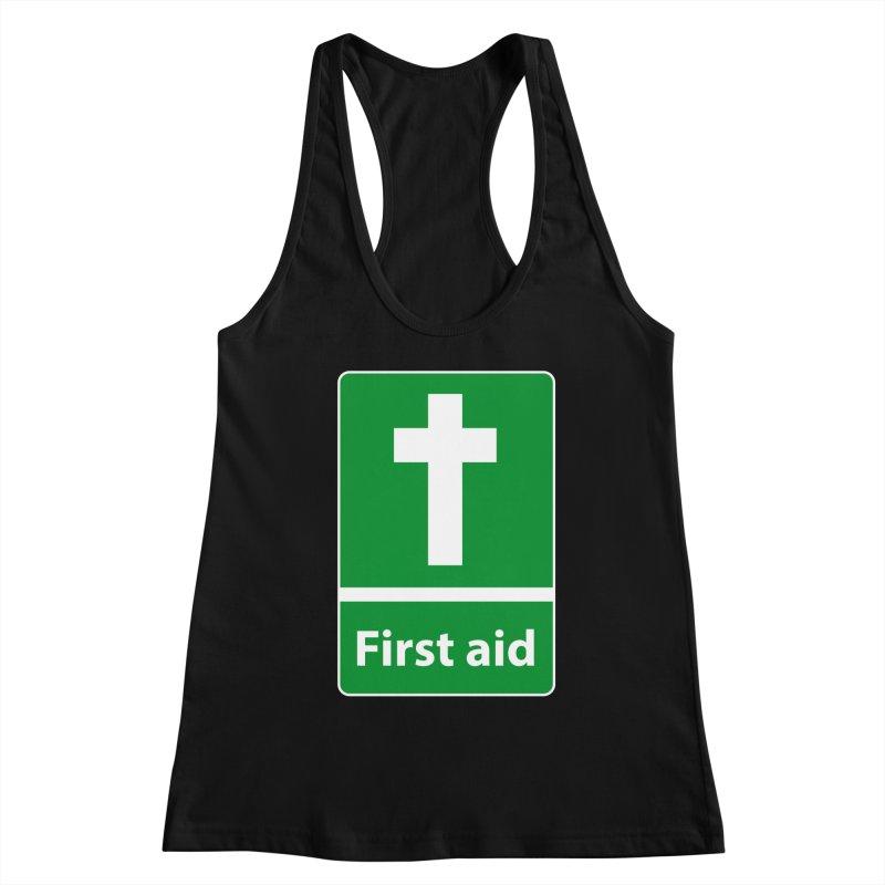 First Aid Cross Women's Racerback Tank by Kelsorian T-shirt Shop