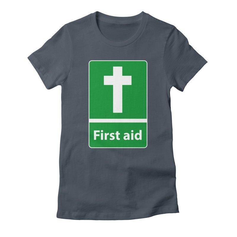 First Aid Cross Women's T-Shirt by Kelsorian T-shirt Shop
