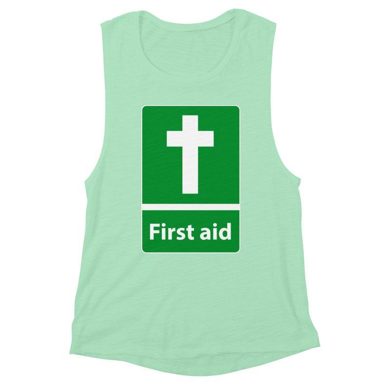 First Aid Cross Women's Muscle Tank by Kelsorian T-shirt Shop
