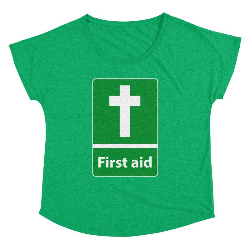 First Aid Cross Women's Dolman Scoop Neck by Kelsorian T-shirt Shop