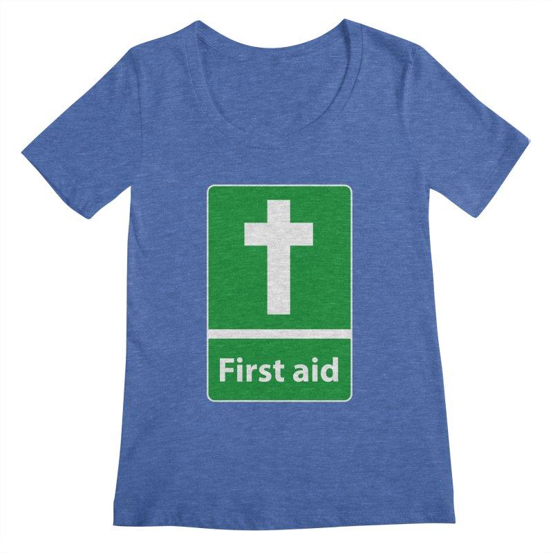 First Aid Cross Women's  by Kelsorian T-shirt Shop