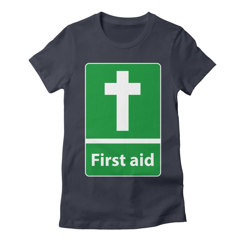 First Aid Cross Women's Fitted T-Shirt by Kelsorian T-shirt Shop