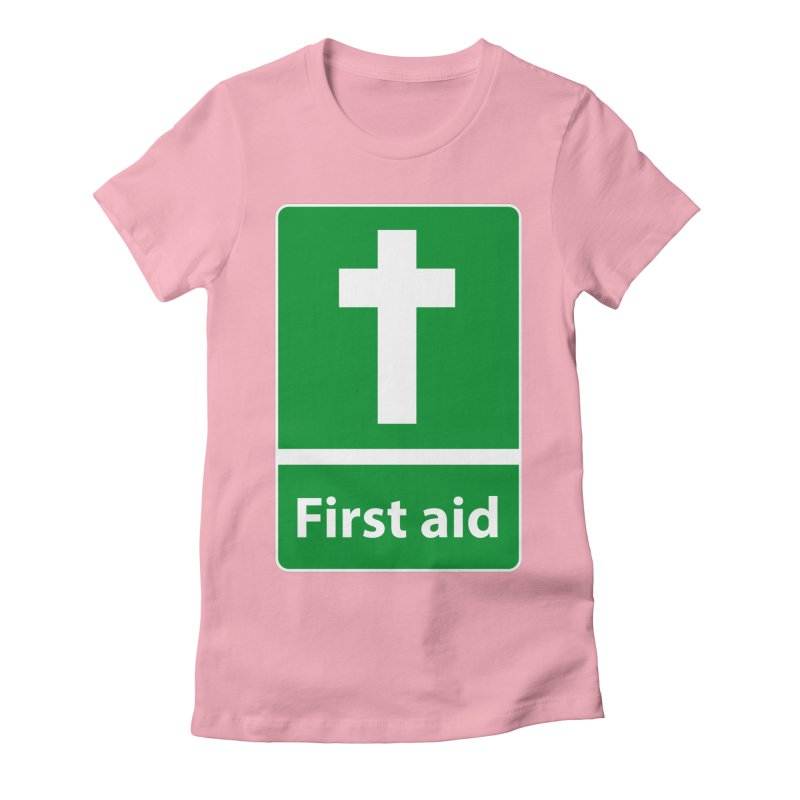 First Aid Cross Women's Fitted T-Shirt by Kelsorian T-shirt Shop