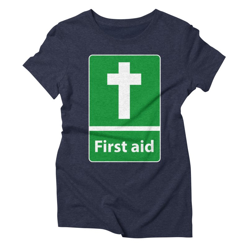 First Aid Cross Women's Triblend T-Shirt by Kelsorian T-shirt Shop