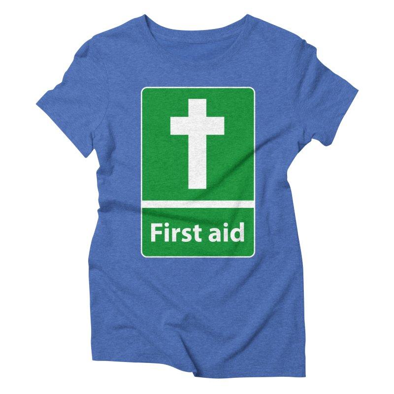First Aid Cross Women's Triblend T-Shirt by Kelsorian T-shirt Shop