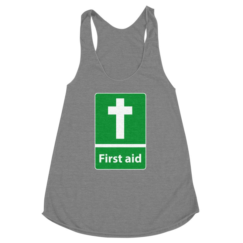 First Aid Cross Women's Racerback Triblend Tank by Kelsorian T-shirt Shop