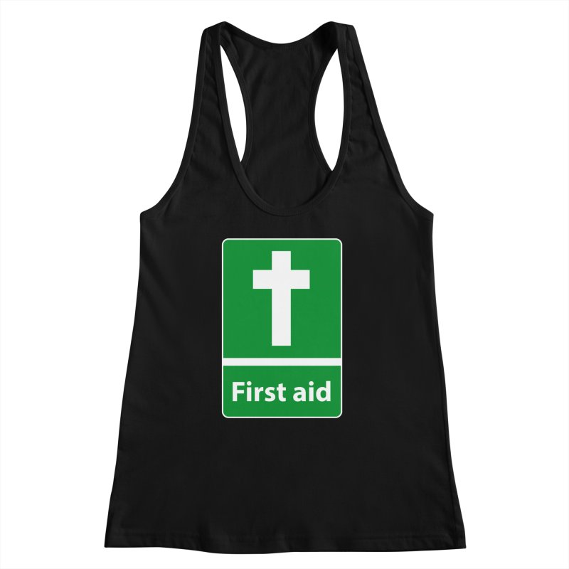 First Aid Cross Women's Racerback Tank by Kelsorian T-shirt Shop