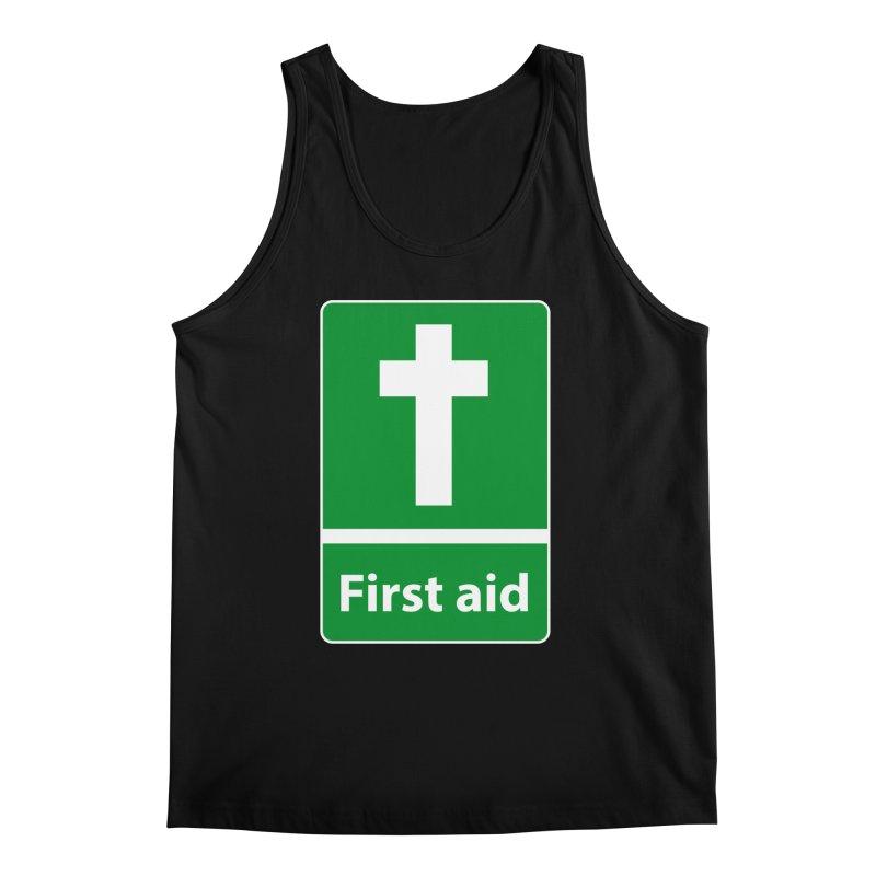 First Aid Cross Men's Tank by Kelsorian T-shirt Shop