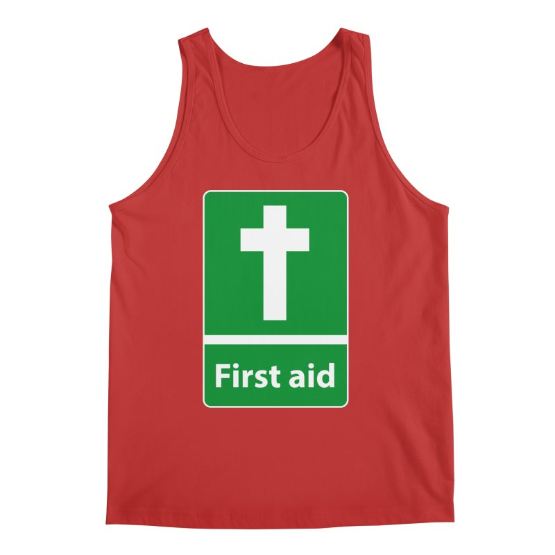 First Aid Cross Men's Regular Tank by Kelsorian T-shirt Shop