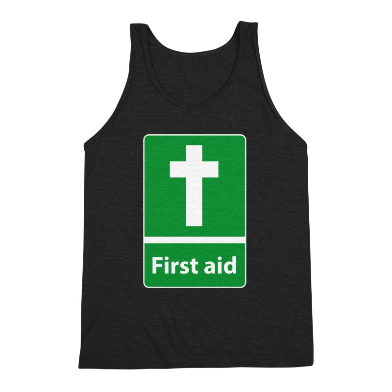 First Aid Cross Men's Triblend Tank by Kelsorian T-shirt Shop
